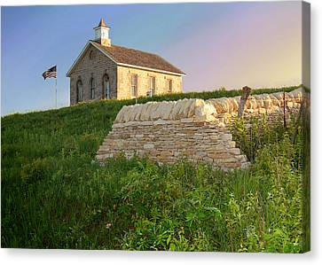 Canvas Print featuring the photograph Lower Fox Creek School by Rod Seel