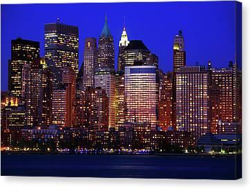 Lower Manhattan Canvas Print by Rick Berk