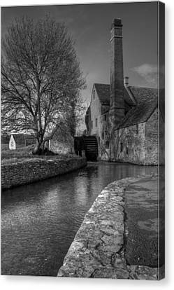 Lower Slaughter Mill Canvas Print by Nigel Jones