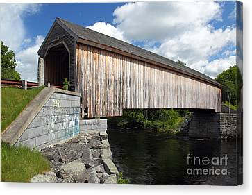 Lowes Covered Bridge Canvas Print by Rick Mann