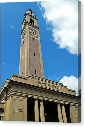 Lsu Memorial Tower Canvas Print by Replay Pgotos