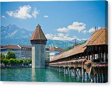 Lucerne In Spring Canvas Print by Anthony Doudt