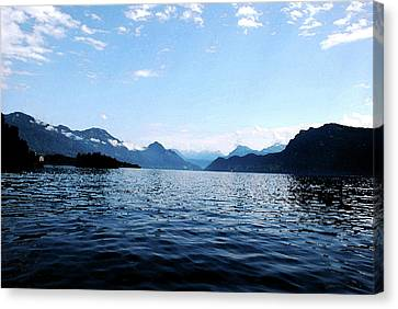 Canvas Print featuring the photograph Lucerne Lake by Pravine Chester