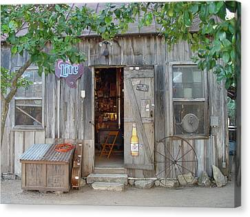 Canvas Print featuring the photograph Luckenbach Texas 2006 by Elizabeth Sullivan