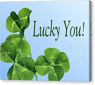 Lucky You Canvas Print by Kristin Elmquist