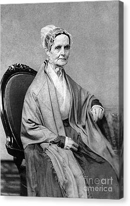 Lucretia Coffin Mott, American Activist Canvas Print by Photo Researchers