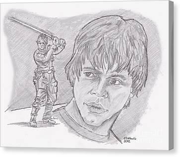Luke Skywalker Episode V Canvas Print by Chris  DelVecchio