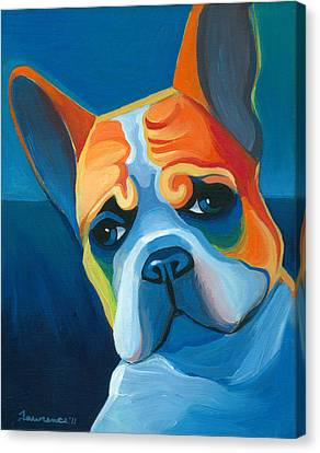 Bulldogs Canvas Print - Lulu by Mike Lawrence