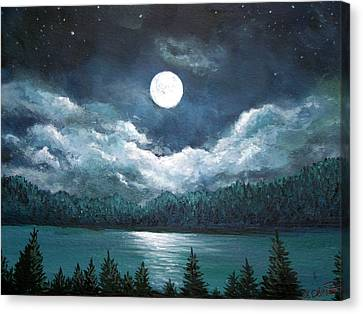Luminous Lake Canvas Print by Amy Scholten
