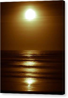 Lunar Tides I Canvas Print by DigiArt Diaries by Vicky B Fuller