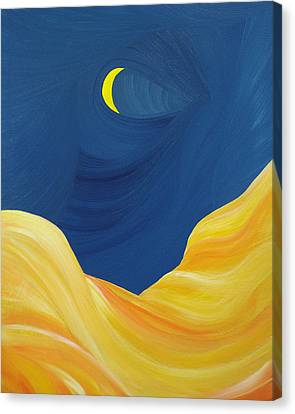 Canvas Print featuring the painting Lunascape by Ginny Gaura