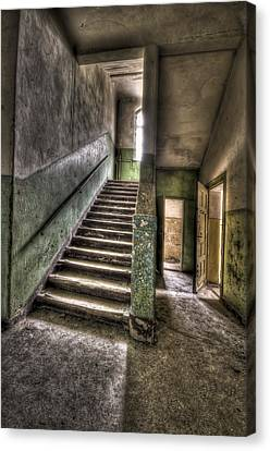 Lunatic Stairs Canvas Print by Nathan Wright