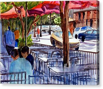 Lunch Alfresco Canvas Print by Ron Stephens