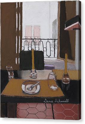 Lunch In Our Rented Paris Flat Canvas Print