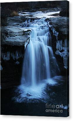 Canvas Print featuring the photograph Lundbreck Falls by Alyce Taylor
