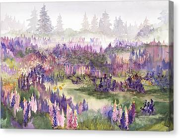 Lupines Galore Canvas Print