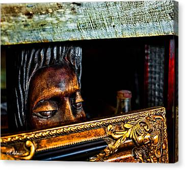 Hidden Face Canvas Print - Lurking by Christopher Holmes