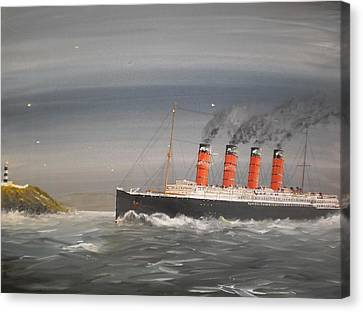 Lusitania Off The Old Head Canvas Print by James McGuinness