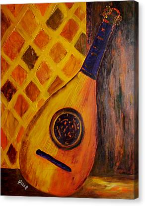 Lute By The Window Canvas Print by Oscar