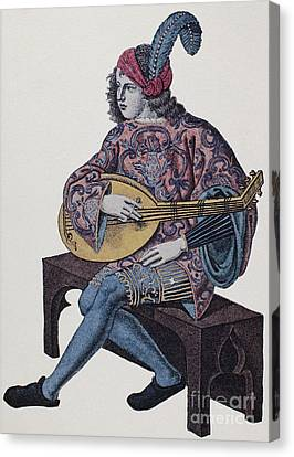 Lute Player, 1839 Canvas Print by Granger