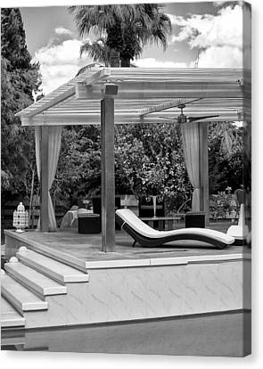 Luxe Tux Chaise Palm Springs Canvas Print by William Dey