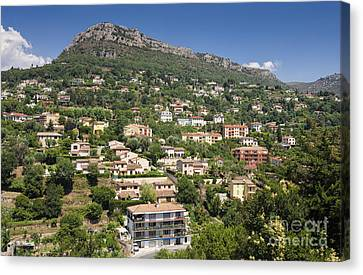 Luxury Hillside Houses And Apartments In Provence Canvas Print