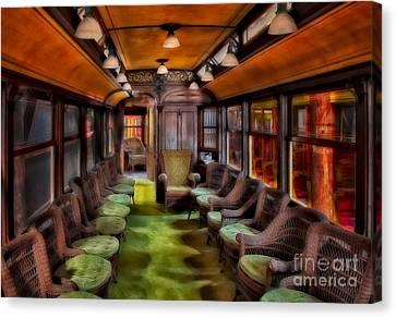 Luxury Vintage Trolley Canvas Print by Susan Candelario
