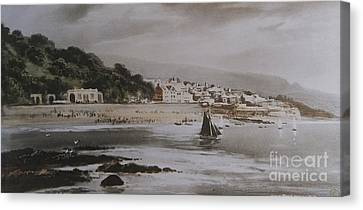 Canvas Print featuring the photograph Lyme Regis by Gary Bridger