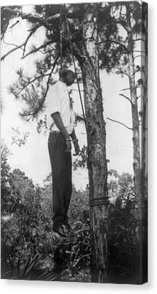 Lynched African American Man Hanging Canvas Print by Everett