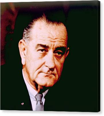 Lyndon B. Johnson 1908-1972, U.s Canvas Print by Everett