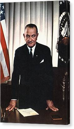 Lyndon Johnson 1908-1972, U.s Canvas Print by Everett