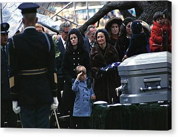 Lyndon Johnson Funeral. Lyn Nugent Canvas Print by Everett