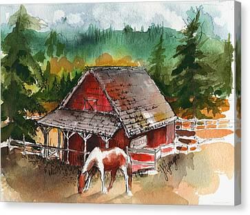 M Bar C Ranch Canvas Print