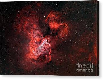 M17, The Omega Nebula Canvas Print by Rolf Geissinger