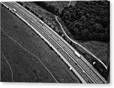 M25 Motorway/highway From Air Canvas Print by Photo by Stuart Gleave