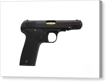 Mab Model D French Police Issue Pistol Canvas Print by Andrew Chittock