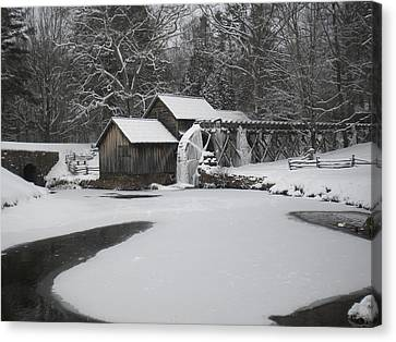Mabry Mill On Ice Canvas Print by Diannah Lynch