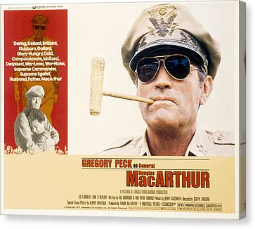 Macarthur, Gregory Peck, 1977 Canvas Print by Everett