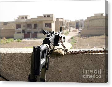 Machine Gun Post At A Prison Canvas Print by Terry Moore