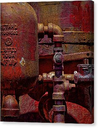 Machinery Grunge Canvas Print by Nancie Rowan