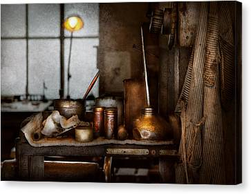 Machinist - Tool - Got Oil  Canvas Print by Mike Savad