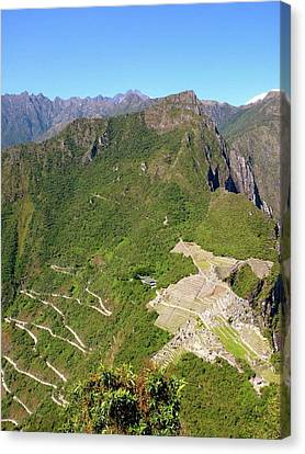 Machu Picchu Canvas Print by Cute Kitten Images