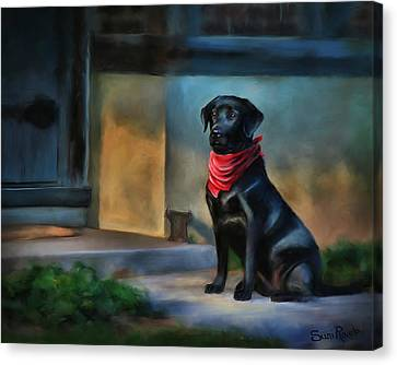 Mack Waits Canvas Print by Suni Roveto