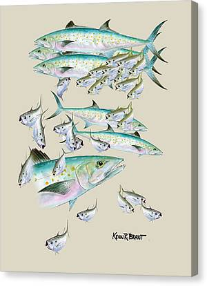 Canvas Print - Mackerel Montage by Kevin Brant