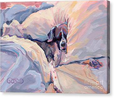Brindle Canvas Print - Macy Lou Hoo Snooze by Kimberly Santini