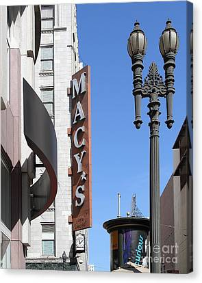 Macys Department Store In San Francisco Canvas Print by Wingsdomain Art and Photography