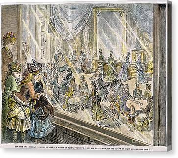 Macys Holiday Display, 1876 Canvas Print by Granger