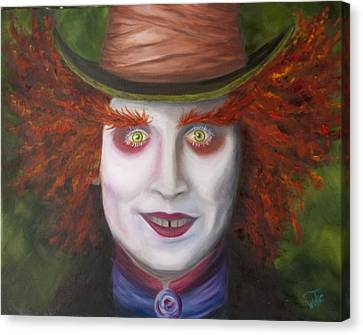 Mad As A Hatter Canvas Print by Thea Wolff