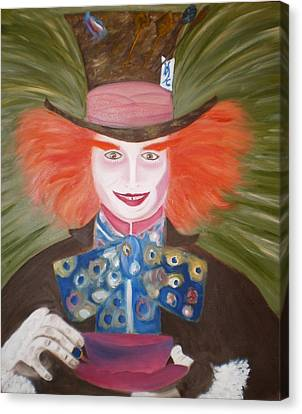 Mad Hatter  Canvas Print by Shannon Schow