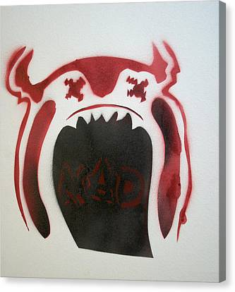 Mad O Rama Flamin Red Canvas Print by Patricia Arroyo